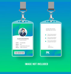 Colorful id card vector