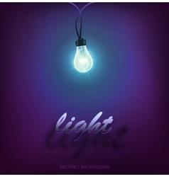 Creative design garland of nature lamps vector