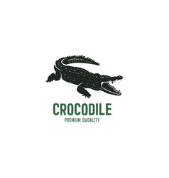 crocodile logo template symbol of alligator vector image