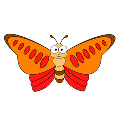Cute cartoon colorful butterfly vector