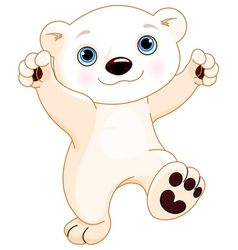 Dancing Polar Bear vector