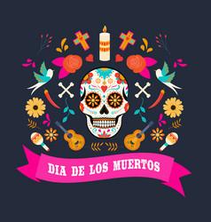 dia de los muertos 5 vector image