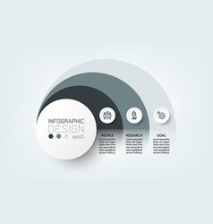Diagram circle design systematic display vector