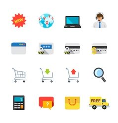 E-commerce and online shopping icons vector
