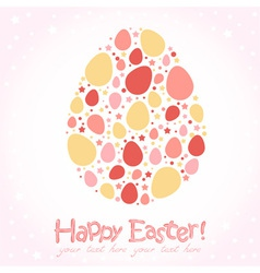 Easter egg stylized cute greeting card vector image