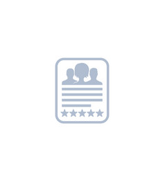 employee review team evaluation icon vector image