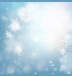 fallen defocused snowflakes blured template eps vector image