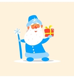 Father Frost with a Present vector