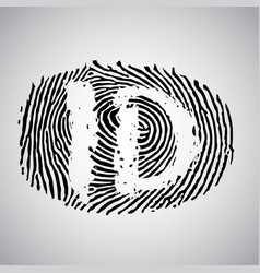 Fingerprint with id vector