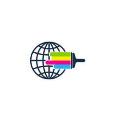 globe paint logo icon design vector image