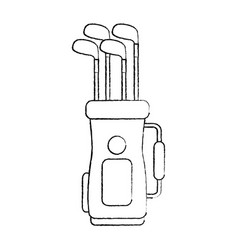 Golf bag with clubs icon image vector