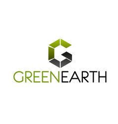 green earth symbol for business ecology design vector image
