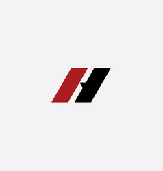 H logo red black icon letter symbol vector