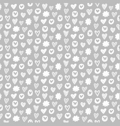 Hearts shapes romantic seamless pattern vector