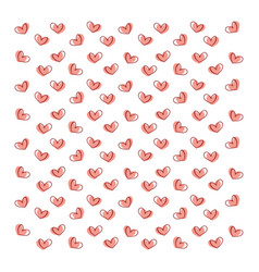 hearts wallpaper on white background vector image