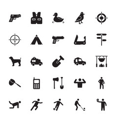 Hunting accessories glyph icon vector