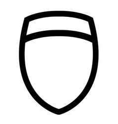 icon template data protection shield for the logo vector image