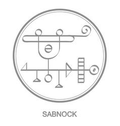 Icon with symbol demon sabnock vector