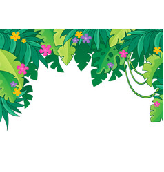 Image with jungle theme 3 vector