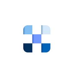 initial letter x square pixel logo design vector image