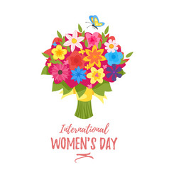 international womans day greeting card vector image