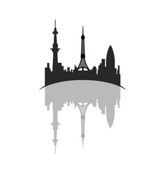 isolated cityscape of tokyo vector image