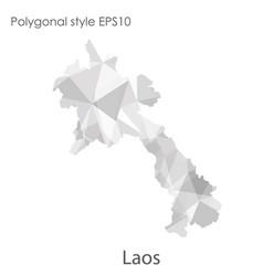 Isolated icon laos map polygonal geometric vector