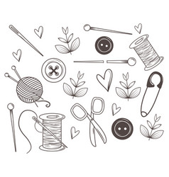 isolated tailor shop icon set design vector image
