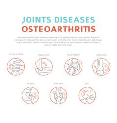 Joints diseases arthritis osteoarthritis symptoms vector