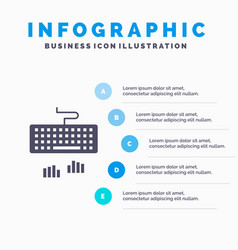Keyboard interface type typing infographics vector