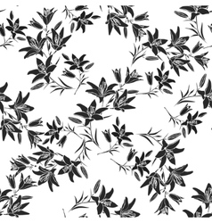 Leaf background Floral seamless texture with lily vector
