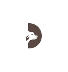 Letter d creative logo dog abstract design vector