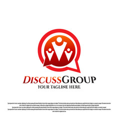 Logo design for groups people or communities vector