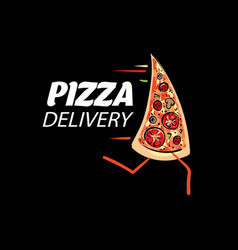 logo of a sketched pizza vector image