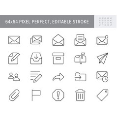 mail line icons include icon vector image