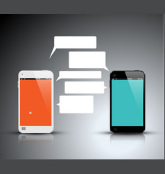Mobile communication technology - concept vector