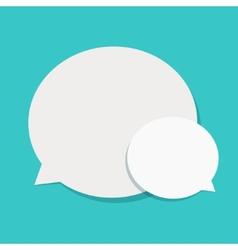 modern flat bubble speech vector image