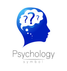 modern head with question inside brain sign of vector image