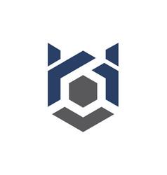 Modern logo solution letter h b vector