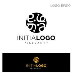 Monogram initial a aa logo template black color vector