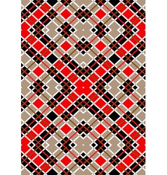 Motley red brown white squares vector image
