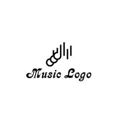 Musical logo vector