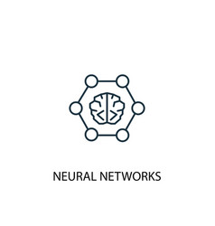 neural networks concept line icon simple element vector image