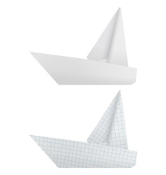 Origami ships vector image