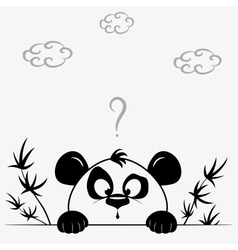 Panda cute vector image
