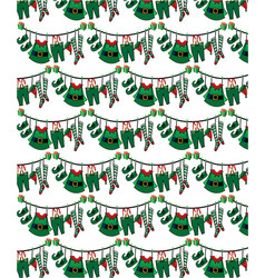 pattern santa s helper mary mary christmas clothes vector image