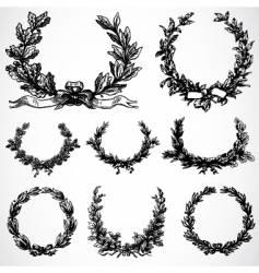 Peace wreaths vector
