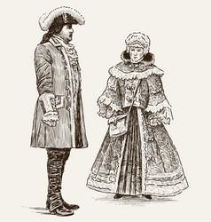 People 18th century vector