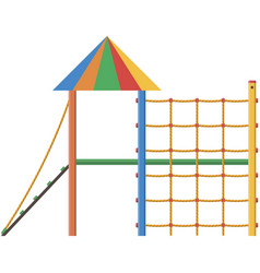 Playground park play equipment isolated vector