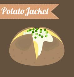 potato jacket vector image